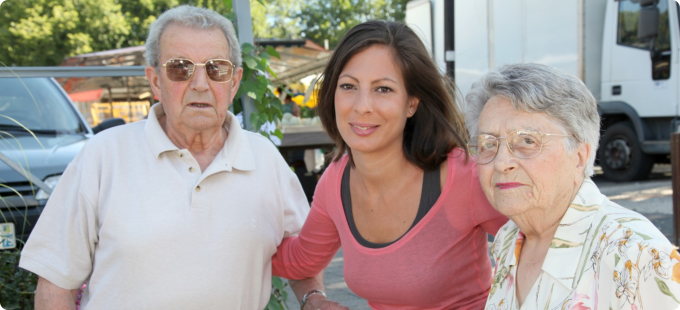 woman with her grandparents